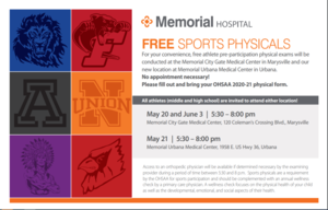 20/21 Sports Physicals